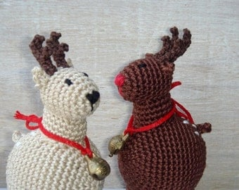 Christmas Reindeer rattle toy,Baby Rattle Toy,Hanging baby toy,Car seat toy,Stroller toy,Christmas Brown deer,Nursing decor,Reindeer Santa