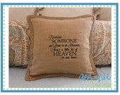INSTANT DOWNLOAD Some We Love In Heaven applique design in digital format for embroidery machine by Applique Corner