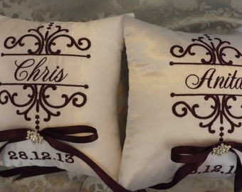 Bride & Groom Ring Bearer Pillows