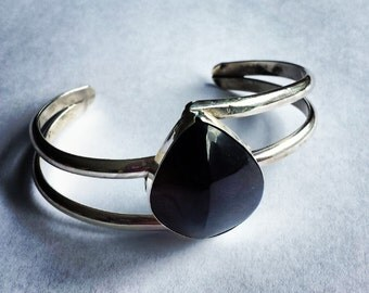 Sterling Silver Smoky Quartz Cuff Bracelet