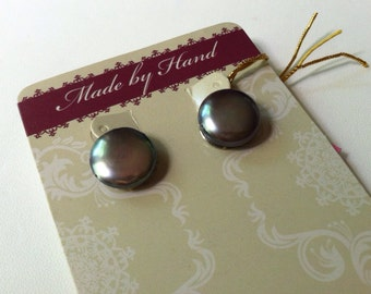 Black Pearl Clip on earrings