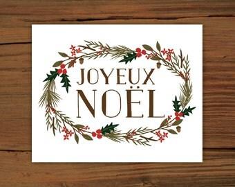 Joyeux Noel Print