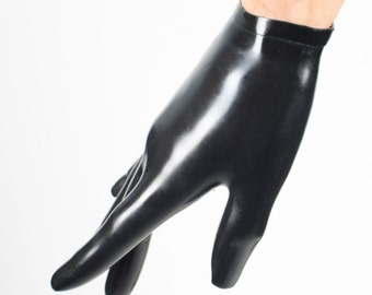 Cropped Latex Rubber Wrist Gloves Molded Hand in a Variety of Colors! By Vex Clothing