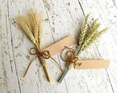 Rustic Wedding Place Cards-Set of 5-Thanksgiving Place Cards-Fall Place Cards-Holiday Place Cards-Wedding Escort Cards-Name Cards-Wheat
