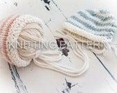 Knitting Pattern - Super Chunky Baby Bonnet - Debbie Bliss Paloma