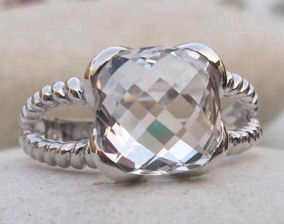 white topaz rings white quartz rings gold rings quartz by