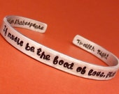 Shakespeare - If music be the food of love, play on - A Double-Sided Hand Stamped Bracelet