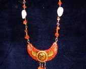 Red Jasper and Cowrie Shell Goddess Necklace