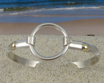 Eternity Bracelet Handcrafted of Sterling Silver with 14K Gold accents