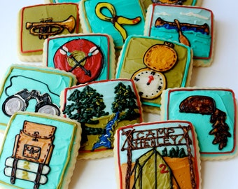 Camping Sugar Cookies with Buttercream Frosting