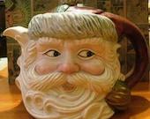 Vintage Christmas Santa Clause Teapot circa 1970's