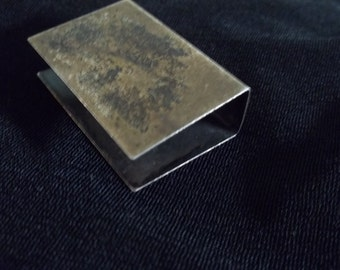 Sterling Silver Matchbook Cover, simple industrial with nice patina, minimalist, minimal, Dad gift, man's gift, mod rustic, accessories, men