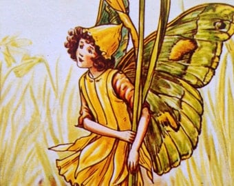 1930s DAFFODIL FAIRY Cicely Mary Barker PRINT Ideal for Framing