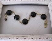 Vintage Black Channel Bracelet
