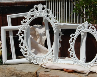 Ornate Shabby Chic Frames /  PICTURE FRAMES / NURSERY / Wedding / Vintage Collection