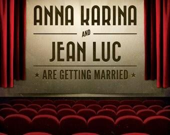 Movie / Film / Cinema themed Vintage Retro Style wedding invitation invite