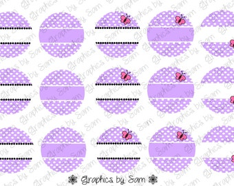 """1"""" DIGITAL Bottle Cap IMAGES -EDITABLE Lavender Butterfly- For Use On Finished Products & For Precut sale"""