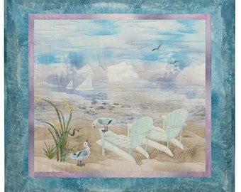 McKenna Ryan Quilt Pattern Beach Walk Holiday for Two Chair Sailboat Seagulls #1