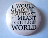 Travel the World Pinback Button, World Traveler Pin, Travel Magnet, Travel Keychain, Backpack Pin, Globetrotter, Travel Map, Cute Pins, Boho