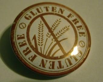 Gluten Free 1.25'' Pinback Button or Magnet Celiac Awareness Pin Diet badge Gluten Free Symbol Cooking Dieting Fridge Magnet