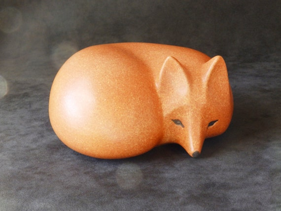 Lisa Larson Signed Fox from the Skansen Series made for Gustavsberg of Sweden, a mid-century modern design  ACL-122