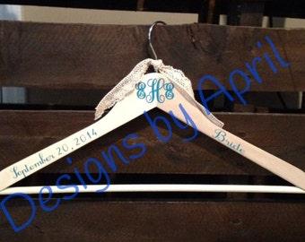 Monogrammed Wooden Hanger - Bridesmaid Gift- Wedding Gift-Flower Girl