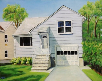 Original House and Doorway  Oil Painting Portraits