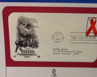 First Day Issue Stamp of Aids Awareness