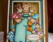 "Handmade Card  - ""Thanks"" - NEW"