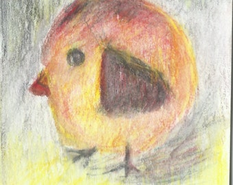 Original ACEO Watercolor Painting - Little Bird