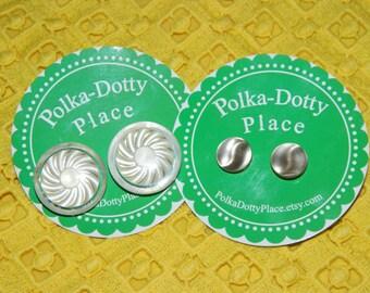 Neutral Vintage Button Earrings