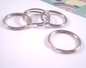 10 x Silver Keyrings / Keychain Split Rings