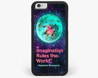 IPHONE 6 Plus CASE, iPhone 6 plus Cover, Napoleon Bonaparte Quote Rubber iPhone se Case, iPhone 7 case, iPhone 5s case