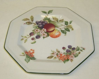 Johnson Brothers England FRESH FRUIT 7 5/8 Inch Eight Sided Salad Plate