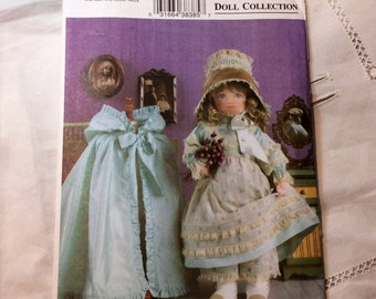 Vogue Victorian Doll Collection Pattern, Victorian Doll Clothes Pattern for 28 Inch Doll, Vogue 7923, Designed by Linda Carr