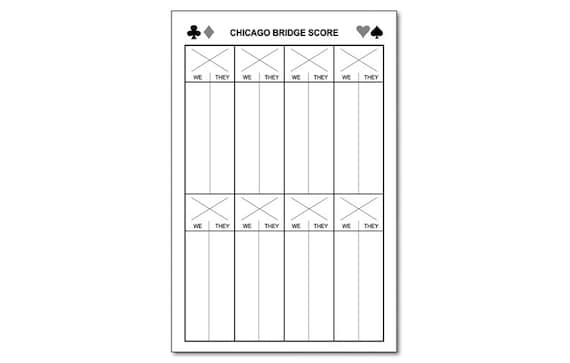 Bridge Score Sheet. London Bridge Is Falling Down, Free Flute