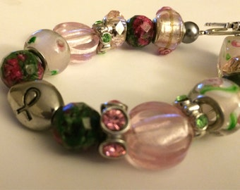 Sorority Twist Breast Cancer Bracelet