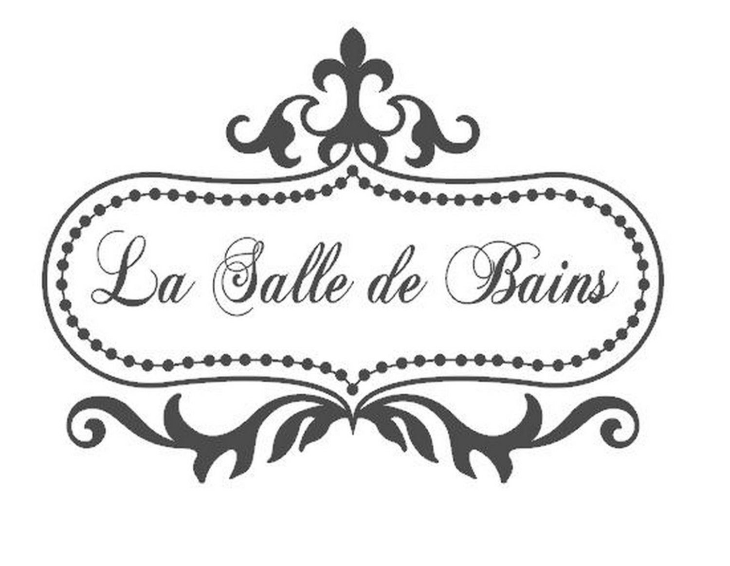 La salle de bain bathroom door or wall by morningwoodstudio for Salle de bain door sign