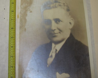 vintage b/w/ black and white photo photograph man in suit