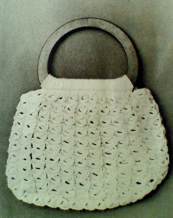 Five 5 Vintage Crochet Purse Patterns by MAMASPATTERNS on Etsy