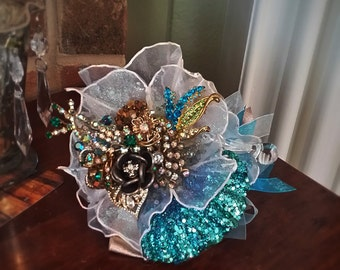 Custom Order for Prom or Bridal Antique Brooch Nosegay