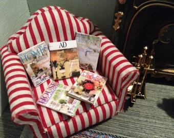 Doll house miniature home magazines set