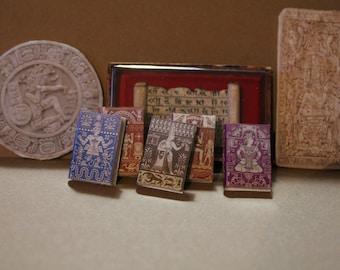 Dollhouse Miniature set of 5 historic books