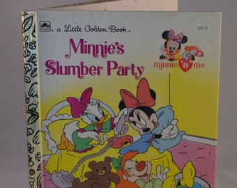 Vintage Little Golden Book: Minnie's Slumber Party (Cindy West) 100-71