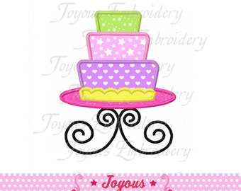 Instant Download Tiered Cake Applique Embroidery Design NO:1539