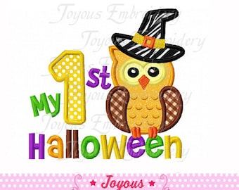 Instant Download My 1st Halloween With Owl Applique Embroidery Design NO:1579