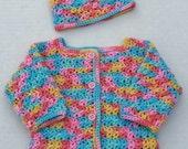 Baby Sweater & Hat Set, 0-3 Months