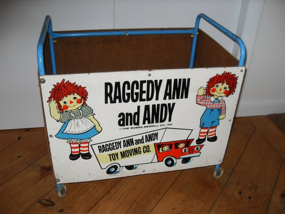 vintage raggedy ann and andy toy box