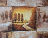 """Oil painting by hand made on canvas ,23.5""""X23.5""""  Ready to Hang, Inner Frame."""