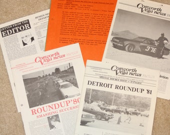 Chevrolet Cosworth Vega Newsletters and Technical Information 1980 and 1981 Along with a Parts List for  1974 - 1975 - 1976 Cosworth Vegas
